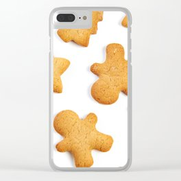 Cookies in shape of Christmas tree, man and star Clear iPhone Case