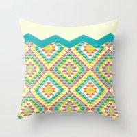 southwest Throw Pillows featuring Southwest by Jacqueline Maldonado
