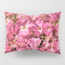 Vintage Pretty Pink Petunias Pillow Sham