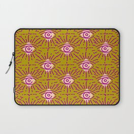 Dainty All Seeing Eye Pattern in Blush Laptop Sleeve