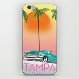Tampa Florida Travel poster iPhone Skin