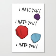 Dandy (I Hate You!) Canvas Print