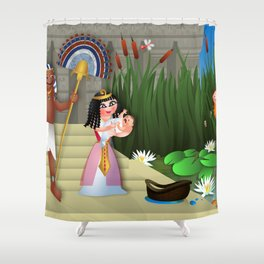 Baby Moses & the Egyptian Princess Shower Curtain