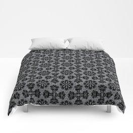 Sharkskin Floral Comforters