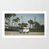 vw bus Art Prints featuring VW Bus by Tyler Vespa