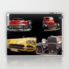Chevy Collage of Classic Cars Laptop & iPad Skin