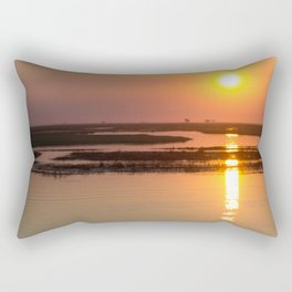 Sunset over the Okavango Delta Rectangular Pillow