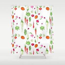 Veggie Party Pattern Shower Curtain