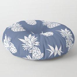 Pineapple Blues Floor Pillow