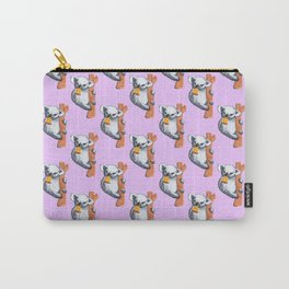 koala eating pizza pattern Carry-All Pouch