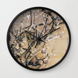 Ito Jakuchu - Birds And Plum Blossoms - Digital Remastered Edition Wall Clock