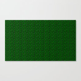 Binary Green Canvas Print