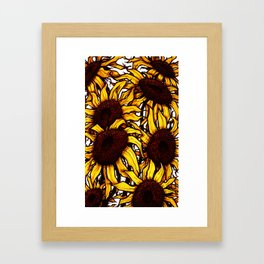 Yellow Sunflowers Framed Art Print