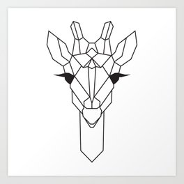 raya goods : jamie the giraffe Art Print