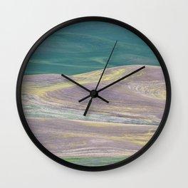Palouse Abstract I Wall Clock