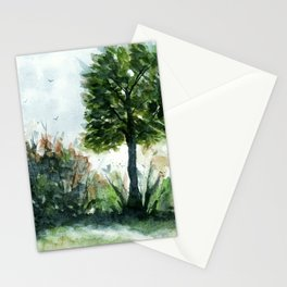 A Lovely Day, Abstract Landscape Art Stationery Cards