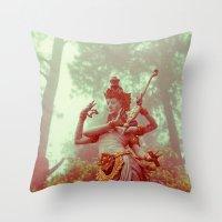 goddess Throw Pillows featuring Goddess by Farkas B. Szabina