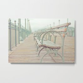 Pastel Pier Metal Print