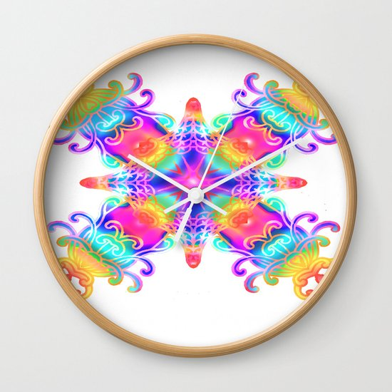 Colours Colours Wall Clock