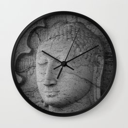 Seated Buddha statue in dhyana mudra pose at Gal Viharaya Wall Clock