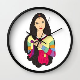 장화 'The Korean Rose' Wall Clock