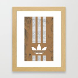 Unique Batik Adidas Brown Case Framed Art Print