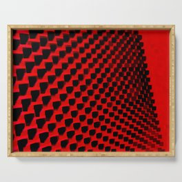 Eye Play in Black and Red Serving Tray