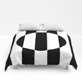 Op Art Striped Circle Comforters