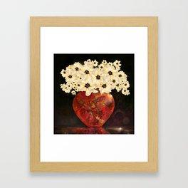 The Red Vase Framed Art Print