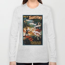 Vintage Magician Thurston Levitation Long Sleeve T-shirt