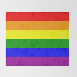 LGBT Gay Pride Flag Throw Blanket