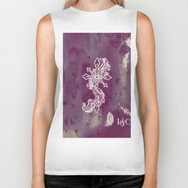 Gothic Cross: purple Biker Tank