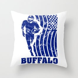 Buffalo Football Throw Pillow