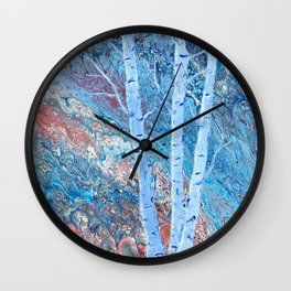 The Majesty of Birch Trees Wall Clock