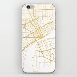DETROIT MICHIGAN CITY STREET MAP ART iPhone Skin