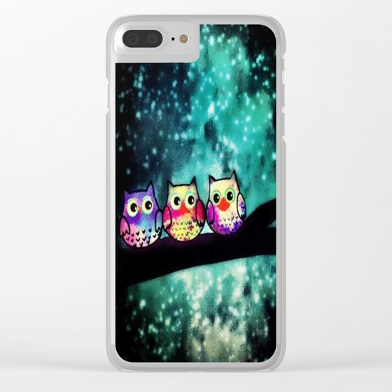 owl-253 Clear iPhone Case