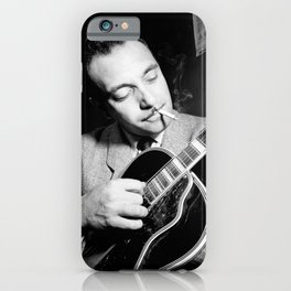 Django Reinhardt at the Aquarium Jazz Club iPhone Case