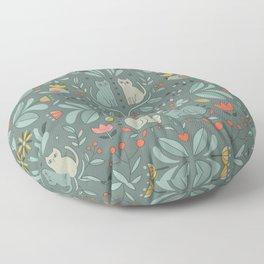Swedish Folk Cats Floor Pillow