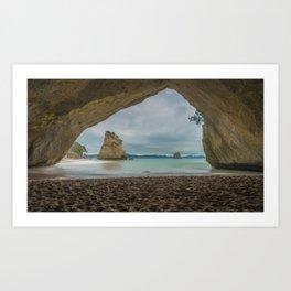 Dawn at Cathedral Cove Art Print