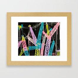 New York Cranes Framed Art Print