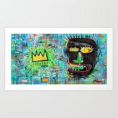 Basquiat's Head Art Print