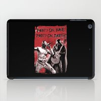 bane iPad Cases featuring Party on, Bane by The Cracked Dispensary
