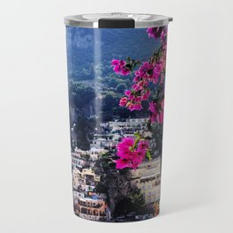 Positano Flowers Travel Mug