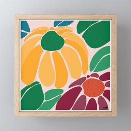 Let's Bloom Framed Mini Art Print