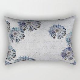 blue daisies par avion Rectangular Pillow