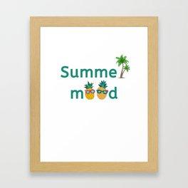 Summer Mood Pineapple Palm Trees Framed Art Print