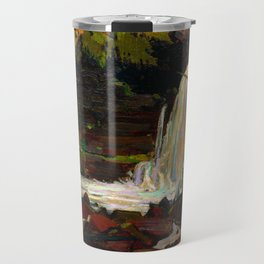 Tom Thomson - Woodland Waterfall - Canada, Canadian Oil Painting - Group of Seven Travel Mug