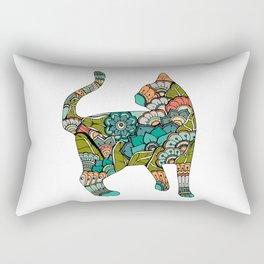 Vegetarian cat Rectangular Pillow