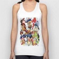 teen titans Tank Tops featuring Teen Titans by poopsmoothie