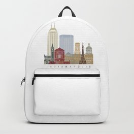 Indianapolis skyline poster Backpack
